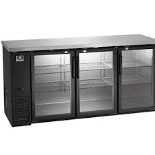 kelvinator electrolux kcbb72gb back bar refrigerator three glass doors