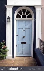 Light Blue Front Door Light Blue Door Royalty Free Stock Picture