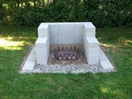 cinder block patio ideas design cinder block outdoor fireplace