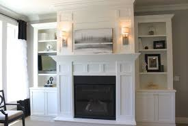 ... White Built In Cabinets Around Fireplace: marvellous white built in  cabinets ...