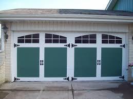 image of faux wood garage door skins
