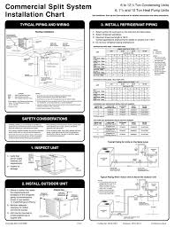 Refrigerant Piping Size Chart Commercial Split System Installation Chart Manualzz Com