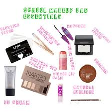 makeup bag essentials by nawsfashion on polyvore