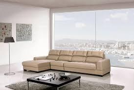 ek l200r lt contemporary 3pcs light tan leather sectional sofa set