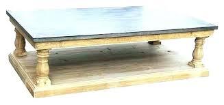 zinc top coffee table reclaimed wood rectangular fascinating reclaimed