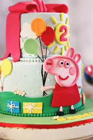 Karas Party Ideas Peppa Pig 2nd Birthday Party