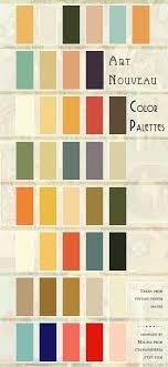 office color palettes. Art Nouveau Color Palettes Office