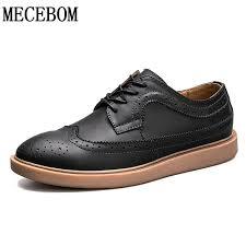 Shop Now Mens Brogue shoes quaity <b>split leather</b> shoes lace-up ...