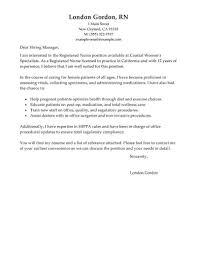 Cover Letter For Registered Nurse Job Application