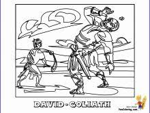 43 Admirable Ideas Of Bible Coloring Pages David And Goliath