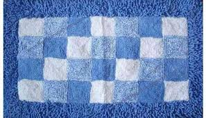 blue and white square bath rugs