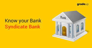 Syndicate Bank Know Your Bank Syndicate Bank