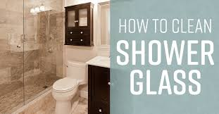 how to clean shower glass doors