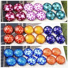 <b>12pcs</b>/<b>lot</b> (<b>One Set</b>) Three Style 12mm Colors Flowers Handmade ...