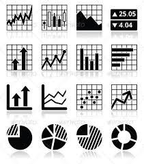 Stock Market Charts And Graphs Stock Market Analysis Chart And Graph Icons Set Charts