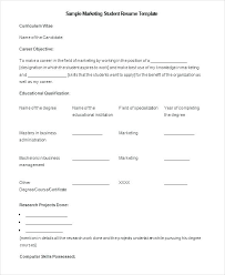 Cv Ms Office Good Resume Template Ms Office For Marketing Student Resume