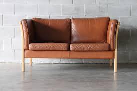tan leather 2 seater sofa