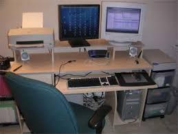 ergonomic desk setup. My New Computer Desk Accommodates Two Monitors And Its Keyboard Tray A Wacom Tablet Ergonomic Setup