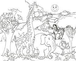 Coloring Pages For Kids Animals Best Of Zoo Animal Collection