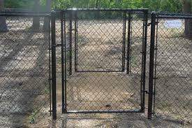 black chain link fence gate. Exellent Fence Black Vinyl Coated Chain Link Fence Gate To A