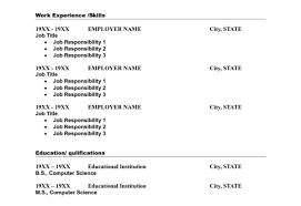 Standard Resume Template Full Size Of Resumestunning Standard