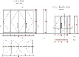 swing aluminium double door