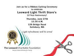 Leeward Light Ribbon Cutting At Leeward Light The Leeward Charitable