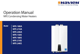 navien venting chart navien tankless water heater manuals find them here