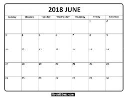Pin By Calendar Printable On June 2018 Calendar Calendar Free