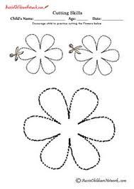 e43a347099898fce822b31f793bf7459 flower cut out shapes worksheets standing lines worksheets and printables �al��ma sayfalar� on slide flip turn worksheet