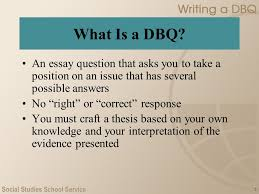 writing a dbq ap u s history what is a dbq an essay  2 2