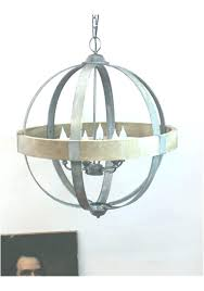 wood and metal chandelier round awesome ball shaped inside antique farmhouse