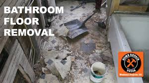 Repair Bathroom Floor How To Remove A Bathroom Floor Step By Step By Home Repair