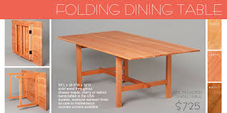 collapsible dining table with regard to chic wooden folding designs 3