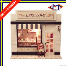 wooden house furniture. CUTEROOM C - 004 DIY WOODEN HOUSE FURNITURE HANDCRAFT MINIATURE BOX KIT WITH COVER LED LIGHT SWEET CAKE (COLORMIX) Wooden House Furniture