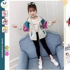 áo khoác bé gái gió 2 lớp thời trang Unisex từ 5 đến 14 tuổi D30 giá cạnh  tranh