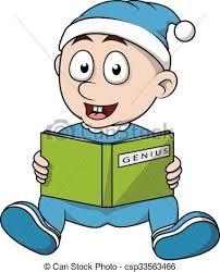 baby boy read book cartoon csp33563466