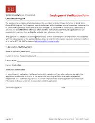4+ Employment Verification Forms - Word, Pdf