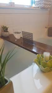 Teak Stained Alder Bath Tray and Caddy: metal book / phone ...