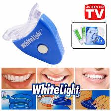 details about seen on tv 2018 led white light teeth whitening kit bleaching oxygen system diy