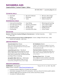 Writer Resume Resume Templates
