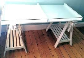 ikea sawhorse desk trestle table desk white trestle desk table top stylish white glass table tops