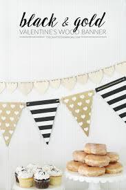 black gold valentine s wood banner valentine s black gold wood banner