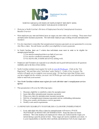 North Carolina Division Of Employment Security Des