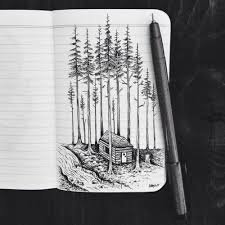 Drawing Illustration Art Black And White Inspiration Trees Nature