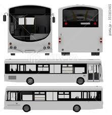 City Bus Template Passenger Transport 3dのイラスト素材 35383465