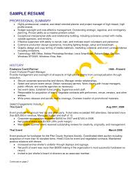 Event Planner Resume Resume Samples