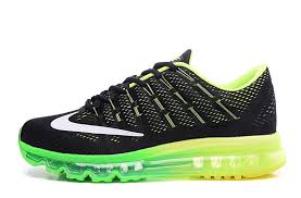 nike running shoes 2016 black. nike air max 2016 men\u0027s running shoe black green volt 806771-003 shoes