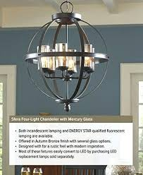can light conversion chandelier sea gull lighting four with bulb calculator chandeli