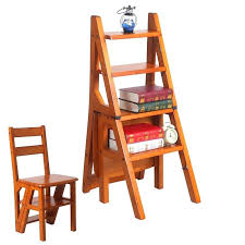 library chair step stool convertible multi functional four step library ladder chair in 3 color library